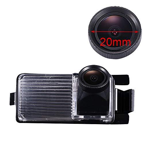 Nuovo Lente da 20mm HD Color Impermeabile Visione notturna Luce targa posteriore Telecamera posteriore per Nissan Tiida Hatchback/Livina/Skyline R35 GTR/250GT/Fairlady 350Z/370Z/CUBE/Geniss