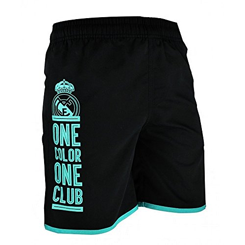 Bañador Real Madrid Adulto One Color One Club Negro Turquesa [AB9143]