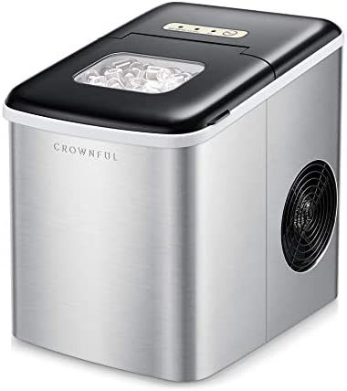 Crownful Ice Maker Machine for Countertop 9 Ice Cubes Ready in 8 10 Minutes 26lbs Bullet Ice product image