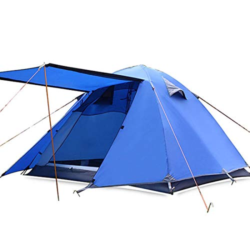 SPFAZJ TentOutdoor 3-4 Person Aluminum Pole Light Field Tent Multi-Person Camping Supplies Rainproof Camping Equipment Tent,Navy blue