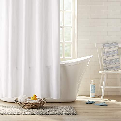 Clorox Waterproof Fabric Shower Curtain, 72' x 72', White