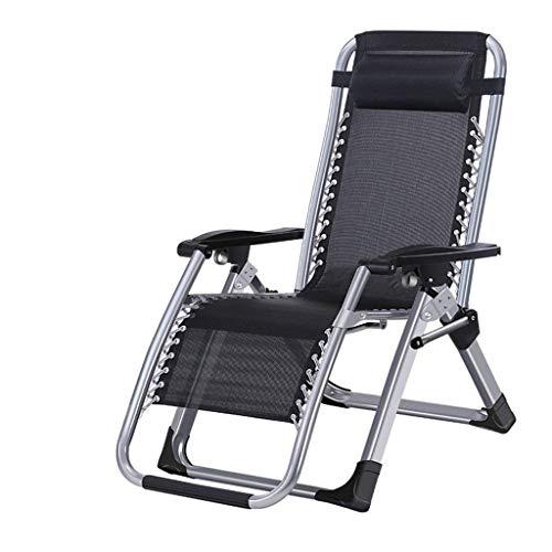 Klappstuhl im Freien mit Fußstütze und Kissen Camping Travel Patio Heavy Duty Stühle Liegen