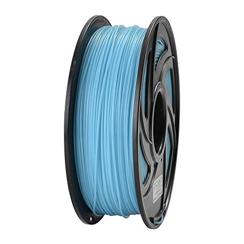 ET PLA 3D Printer Filament, RoHS Compliance,Dimensional Accuracy +/- 0.02 mm, 1 KG Spool, 1.75 mm, Glow in The Dark (Blue)