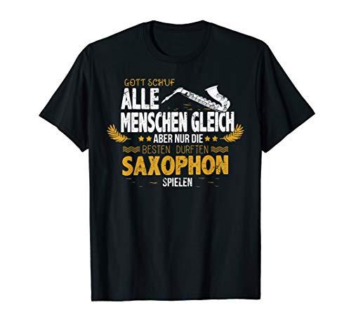Lustiges Saxophon Geschenk für Saxophonspieler - Saxophonist T-Shirt