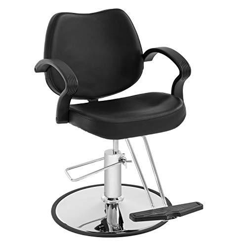 Barber Chair Salon Chair Styling Heavy Duty Hydraulic Pump Stylist Chair Adjustable Hydraulic Chair for Hair Stylist (Black)