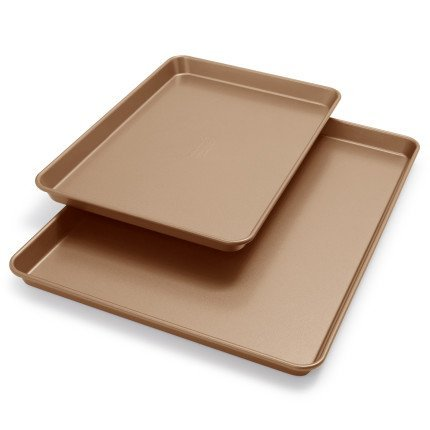 KitchenAid profesional antiadherente jellyroll Pan y bandeja de horno kb2nss95shwt, juego de 2: Amazon.es: Hogar