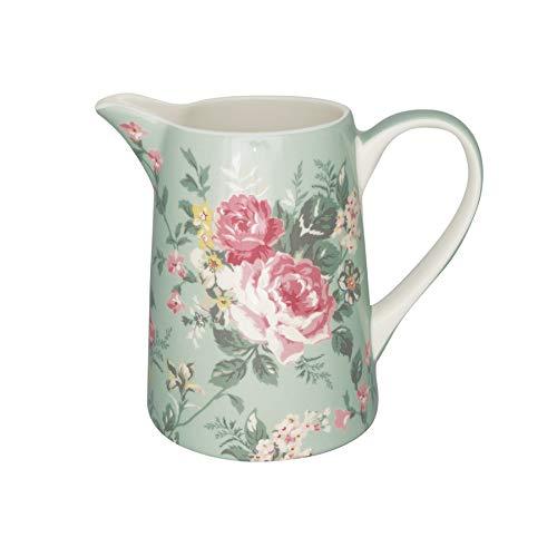GreenGate Krug Wasserkrug Kanne Milchkanne Vase Josephine Pale Mint 1L Steingut