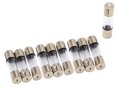 Ampere-Werte 0,5 A-30 A M6 x 30 mm 72-teiliges Glas-Sicherungs-Sortiment