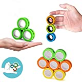 MICOSBVX 12 PCS Finger Magnetic Ring, Magnet Toy, Magnetic Fingertip Toys, Decompression Magnetic Magic Ring, Magnetic Game, Magic Toy, Magnetic Bracelet, Durable Unzip Toys