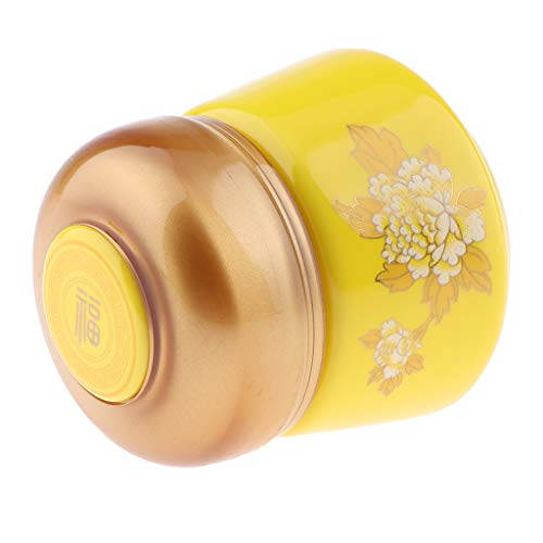 MERIGLARE Mini Pot De Crème Cosmétique En Céramique Vide Pot Pot D'étain, Baume à Lèvres, Lotion - Jaune