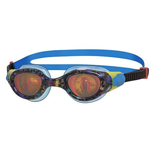 Zoggs Unisex-Youth Sea Demon Junior Occhialini da Nuoto, 6-14 Anni, Nero/Blu/Ologramma
