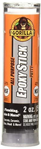 Gorilla All Purpose Epoxy Putty Stick, 2 Ounce, Grey, (Pack of 1)
