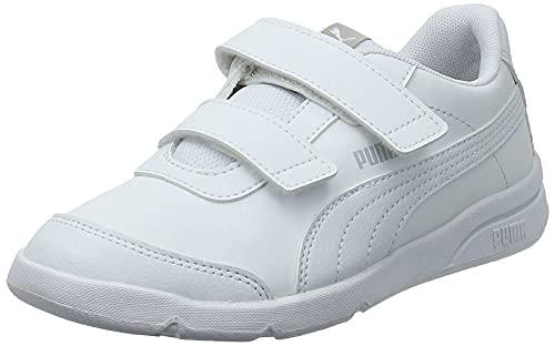 PUMA Unisex Kinder Stepfleex 2 SL VE V PS Sneaker, White White, 34 EU
