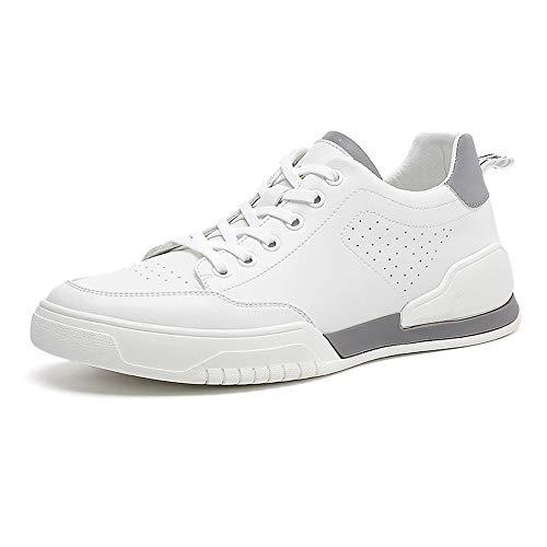 Yao Running Hombre Calzado Deportivo Ligero Transpirable Asfalto Zapatos para Correr Antideslizante Sneakers Aire Libre Sneakers (Color : Blanco, Size : EU 40)