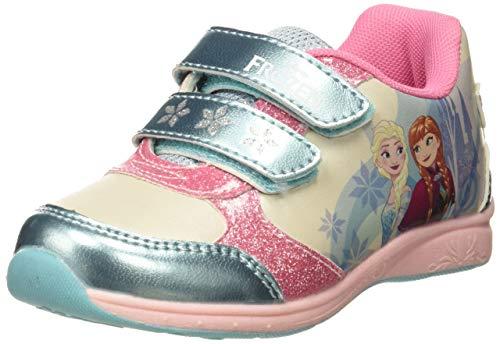 Frozen Girls Kids Low Sneakers, Chaussures de Fitness Garçon, Multicolore (L T Blue D Pink White L Blue), 28 EU