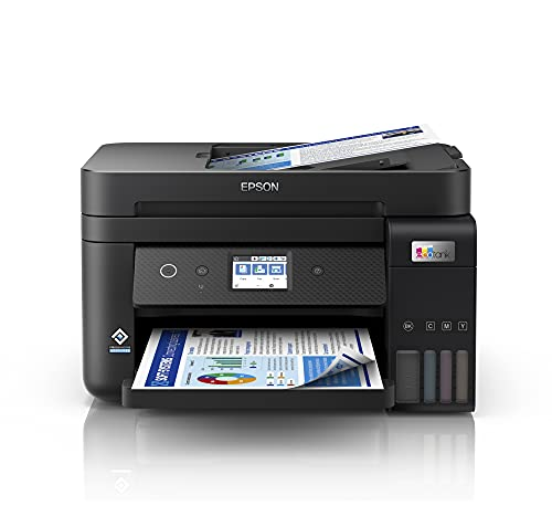 Epson EcoTank ET-4850 | Impresora WiFi A4 Multifunción 4en1 con Depósito de Tinta Recargable, Fax, Impresión Doble Cara Automática (Dúplex), Pantalla LCD Táctil, Bandeja Frontal | Mobile Printing
