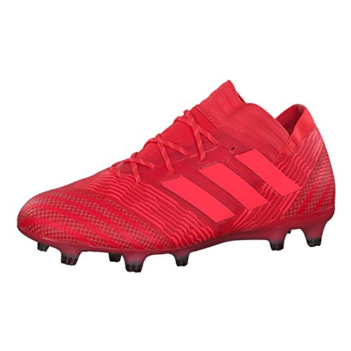 adidas Herren Nemeziz 17.1 FG Fußballschuhe, Rot (neonrot neonrot), 42 2/3 EU
