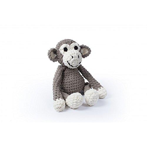 Bernat Knitty critters-charlie Chimp, Baby Sand und Vanille, 300g Garn, 8mm und 5mm Häkelnadel, Garn für die Funktionen, Spielzeug Füllung, Muster