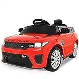 Uenjoy Sport SVR Elektroauto für Kinder von 3-6 Jahren,Kinderfahrzeuge mit Fernbedienung, DREI Geschwindigkeitsmodi, Hoher Sicherheitsfaktor, Hupen ,LED-Leuchten, Rot