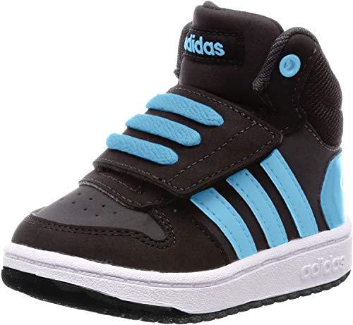 adidas Unisex-Kinder Hoops MID 2.0 I Fitnessschuhe, Schwarz (Negro 000), 23 EU
