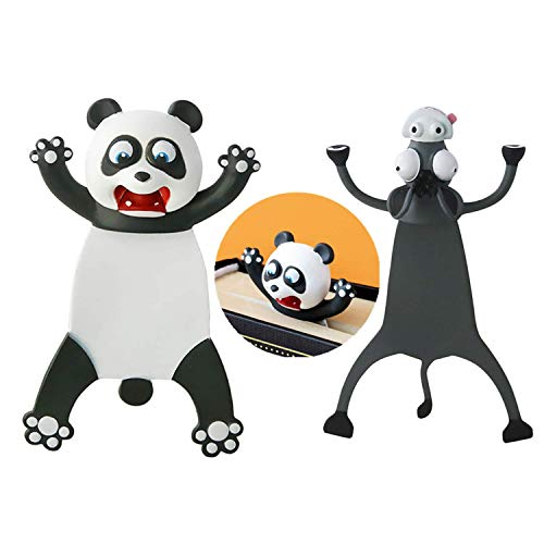 2 Pack Bookmark Wacky Funny Animal Bookmark - for Kids Squashed Novelty Cute Book Marks - 3D Stereo Bookmark (C, 2 Pack)
