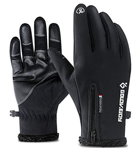 MYSdd Winter Motorradhandschuhe Herren wasserdicht Winddicht warm Radfahren Fahrrad kalt Auto Handschuhe Touchscreen Handschuhe - A1 X XL