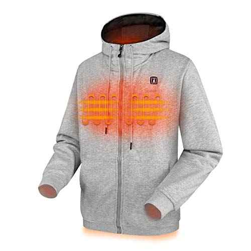 CLIMIX Heated Hoodie for Men Women, Lightweight Heated Sweatshirt with Battery Pack (Unisex) (L,...