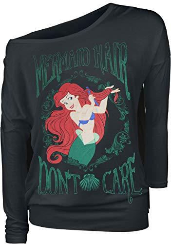 Arielle, die Meerjungfrau Mermaid Hair Frauen Langarmshirt schwarz M