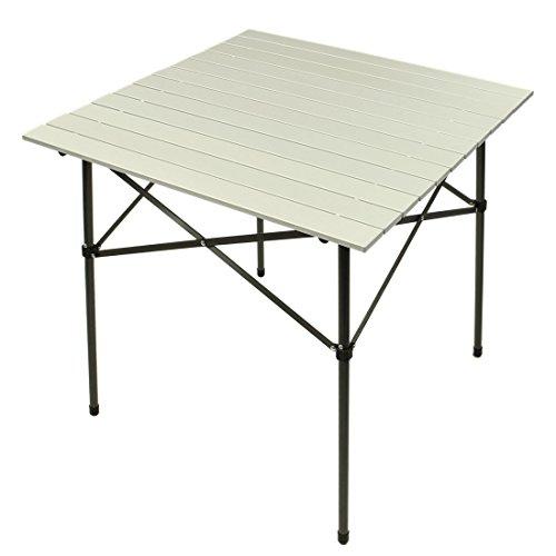 Fridani Campingtisch FT 70x70x70 cm Aluminium Klapptisch Leichter Gartentisch Faltbarer Reise-Tisch