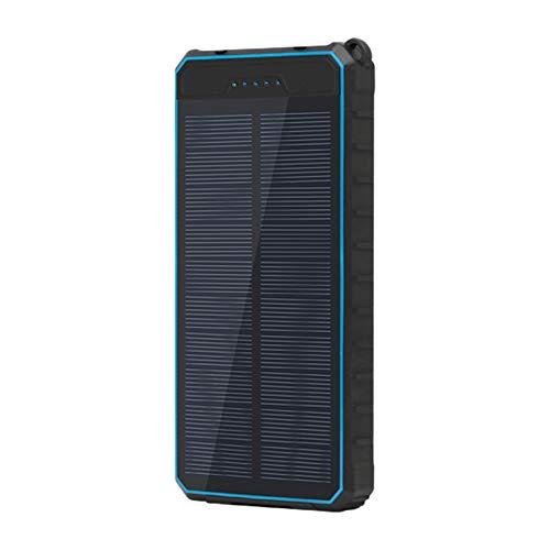 WY&WY Banco De Energía Solar De 20000 Mah, Cargador Portátil, Paquete De Batería Externa, Linterna, A Prueba De Salpicaduras, A Prueba De Polvo, A Prueba De Golpes, Carga De Panel Solar