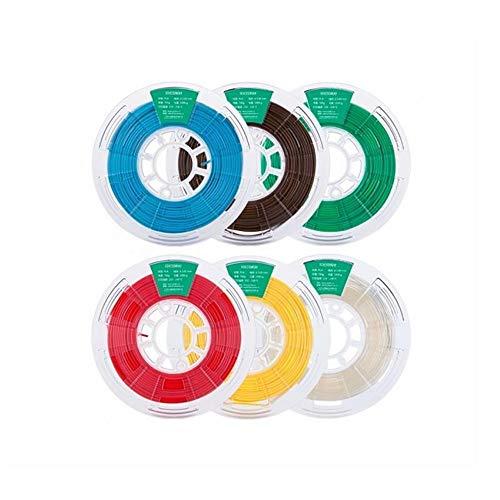 MICEROSHE Filament d'imprimante 3D Pro 1 kg/Roll Blanc/Noir/Gris/Vert/Orange/Bleu Ciel/Brun foncé PLA for imprimante 3D Filament (Couleur : Vert, Taille : 1.75mm)