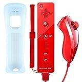QUMOX Mando a Distancia Wii Nunchuck con Motion Plus Compatible con la Consola Wii y Wii U | Mando a Distancia de Wii...