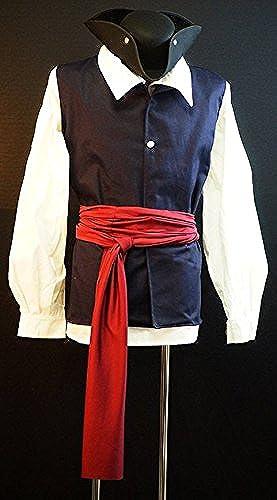 Médiéval-Reconstitution-Larp-SCA-Cosplay-Bataille prêt-Pirate Homme FLIBUSTIèRE GILET &écharpe Disponible en couleurs et tailles diverses - Rouge, Hommes  grand