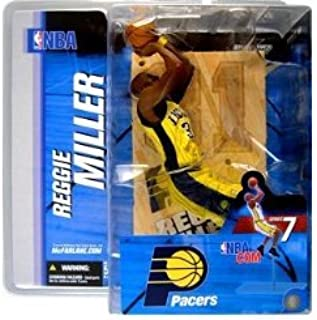 Mcfarlane NBA Series 7 Reggie Miller Indiana Pacers Yellow Jersey Chase Alternate Variant Action Figure