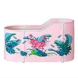 Vasche da bagno con piedini Barili da Bagno Barili da Bagno Extra-Large Barili da Bagno Ispessiti Pieghevoli Vasche da Bagno Rotonde Isolate for Uso Domestico (Color : Pink, Size : 120 * 70 * 60cm)