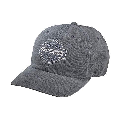 Harley-Davidson Herren Kappe mit ausgefranstem Logo, Grau