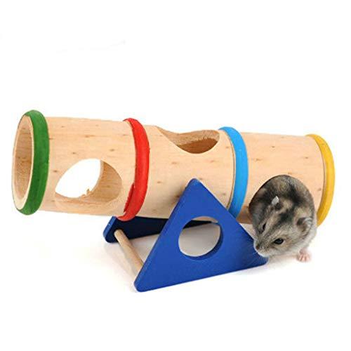 Jasa Regenbogen-Seesaw Goldener Seidenbär Spielzeug Hamster Spielzeug Möbel Möbel Möbel Fitness Holz