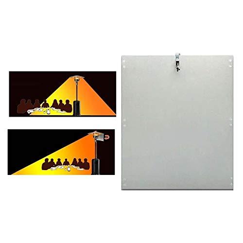 LOFAMI Wärme Fokussierung Reflektor for Rund Erdgas und Propan Terrassenstrahler Schild (Color : 1PC)