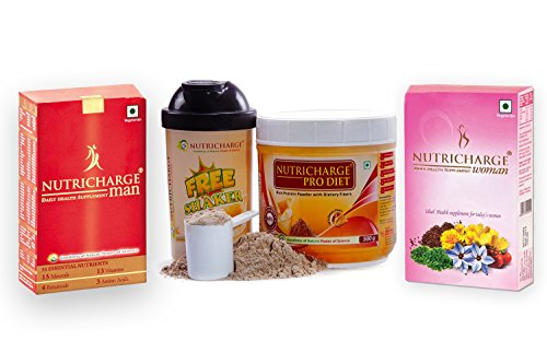 Nutricharge Man And Women Daily Health Supplement And Pro Diet