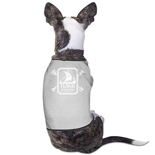 Florasun Floki's Shipyard ropa de mascota moda perro camisa para gatos y perros pequeos chaleco ropa disfraz de cachorro-gris M