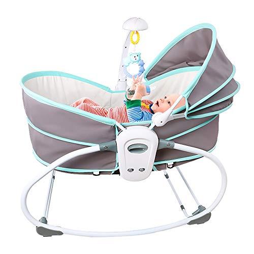 HOMESROP Elektrisches Moskitonetz mit automatischer Schaukel (Schlafsofa for Kleinkinder, Wiege, platzsparendes Kinderbett mit Matte und Aktivitätscenter) - zusammenklappbar, ergonomisch (blau)