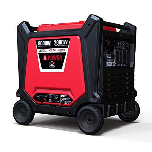 A-iPower SUA8000i 8000 Watt Portable Inverter Generator, for Sensitive Equipment