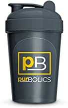Purbolics Shaker Bottle | 16 oz Shaker Bottle | Great for Mixing Purbolics Protein and Purbolics Aminos (Grey)