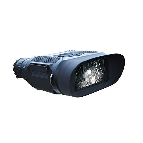 Digital de visión nocturna prismáticos, infrarrojos 7 x 31 impermeable caza infrarrojos telescopio con 2.0 pulgadas TFT LCD pantalla in-view