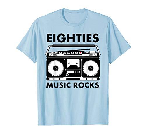 Eighties Music Rocks T-Shirt, 5 Colors