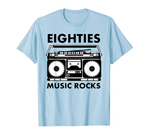 Eighties Music Rocks t-shirt for Adults or Kids, 5 Colors