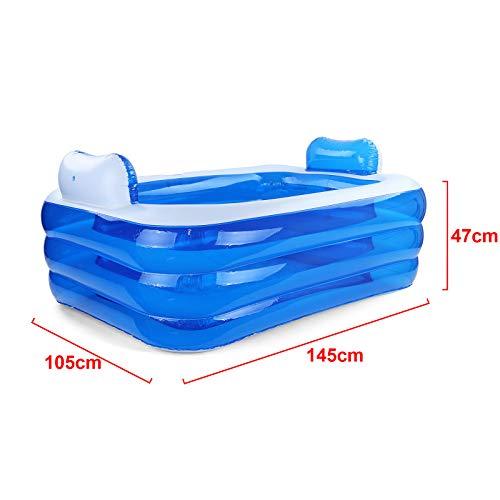 RAMROXX 38331 RELAX Pool Swimmingpool mit Kopfstützen und Cupholder