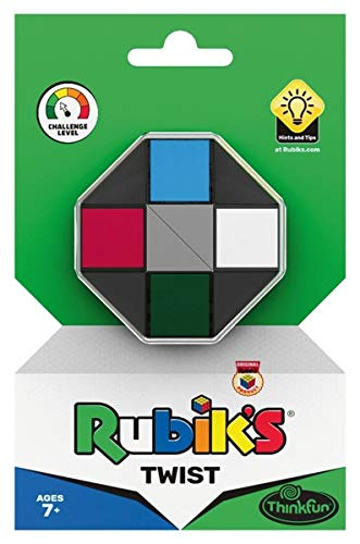 ThinkFun 76401 - Rubik's Twist, der kreative Rätselspaß für Fans des original Rubik's Cubes. Kreiere unzählige Formen. Für alle Fans des Zauberwürfels.