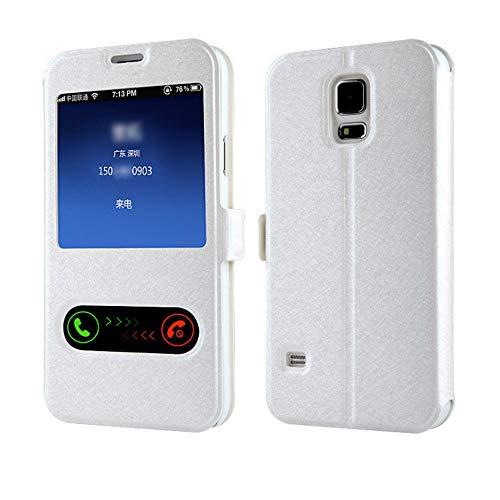 QiuKui For Samsung Galaxy A10 A30 A40 A50, Lujo Frente Ventana de visualización del tirón del Cuero del Caso for Samsung Galaxy M10 M20 A3 A5 A7 J3 J5 J7 2015 2016