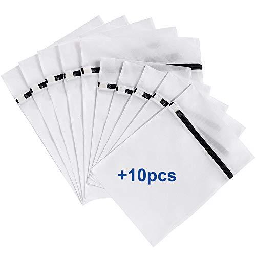 ARPDJK 10 Sacchetti per Biancheria in Rete con Cerniera, Sacchetti per Bucato Riutilizzabili per Lavatrice per Camicie, Biancheria Intima, Calze e Vestiti per Bambini, 30 x 40 cm, 40 x 50 cm